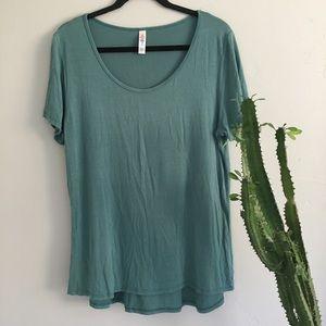 LuLaRoe Tops - Lularoe Blue T-Shirt Sz L